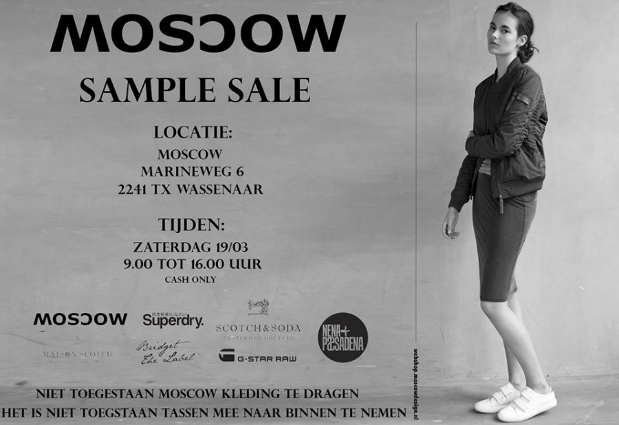 moscow sample sale -- sample sale in wassenaar