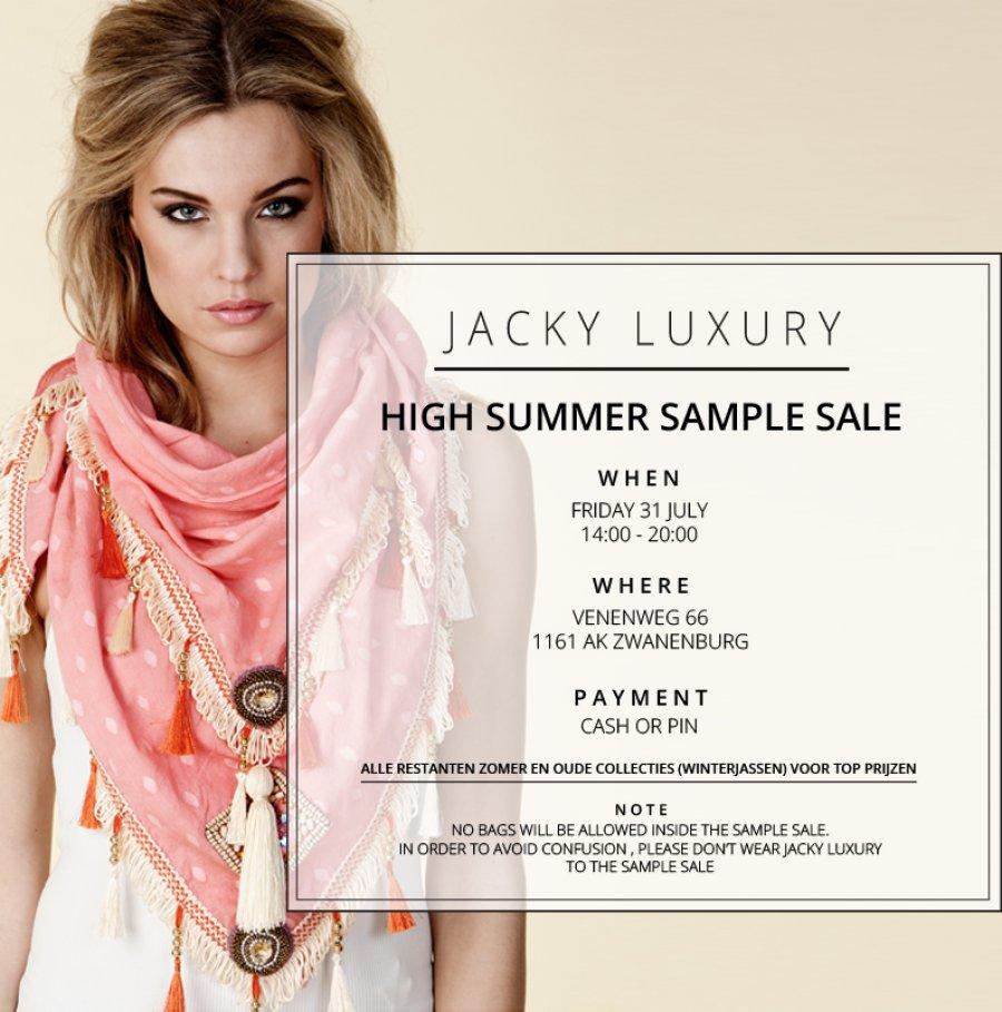 3ffa062c4366fe Jacky Luxury High Summer Sample Sale. Korting tot 70% op kleding, schoenen,  tassen en accessoires .