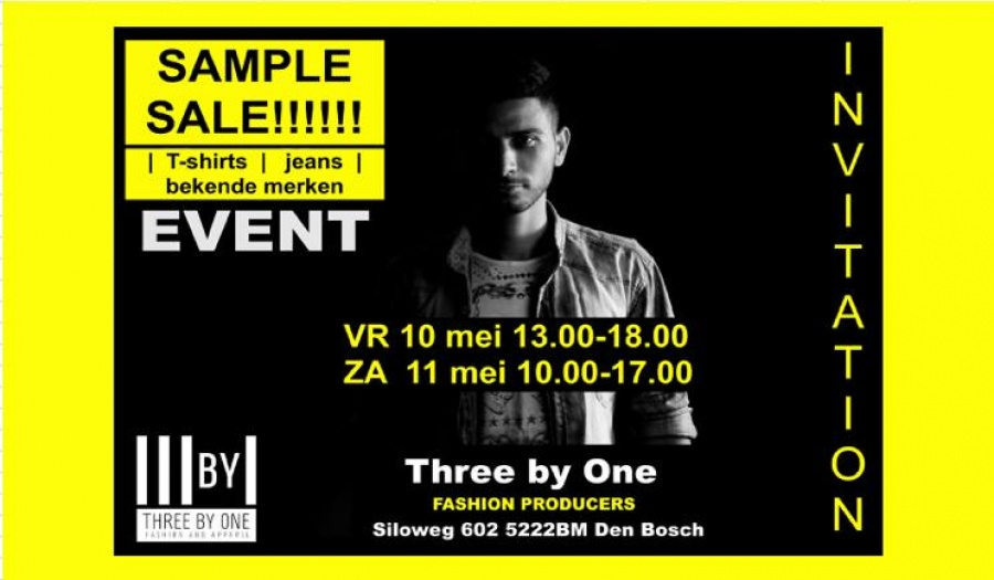 670c991170c9ff Three By One Sample SALE -- Sample Sale in 's-Hertogenbosch
