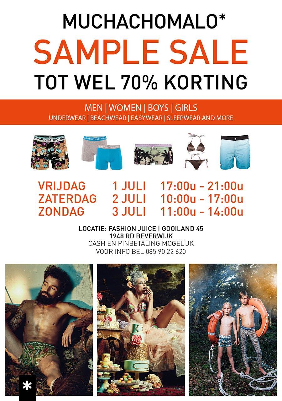 19e890d3a6527b ... sample sale. Tot 70% korting op underwear, beachwear, easywear,  sleepwear en meer ... Adres:Fashion Juice Gooiland 45 1948 RD Beverwijk -  Noord-Holland