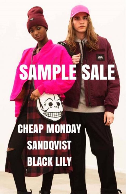 Sample Sale Cheap Monday -- Sample Sale in Amsterdam